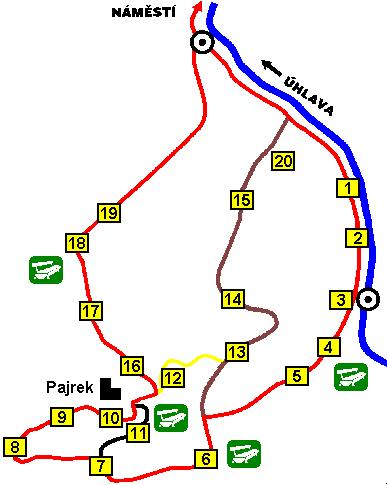 Mapa naučného okruhu Nýrsko